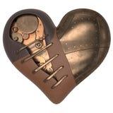 Rendez de 3d Steampunk a dénommé le coeur illustration stock