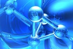 Rendez de la molécule Photographie stock libre de droits