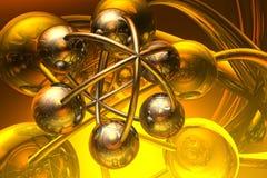 Rendez de la molécule illustration stock