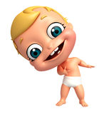 Rendez du bébé dirigeant la pose Photo stock