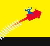 Rendez une flèche ascendante illustration libre de droits