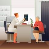 Rendez-vous au thérapeute Flat Composition illustration de vecteur