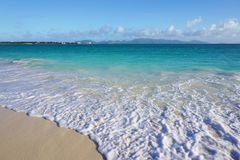 Rendez-vous Bay beach in Anguilla Royalty Free Stock Image