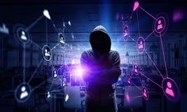 Rendez-vous compte de l'attaque de pirate informatique Media mélangé Photos libres de droits