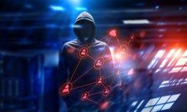 Rendez-vous compte de l'attaque de pirate informatique Media mélangé Photo libre de droits