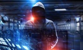 Rendez-vous compte de l'attaque de pirate informatique Media mélangé Media mélangé Image stock