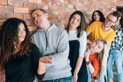 Rendez-vous d'affaires d'entrevue d'emploi de Millennials photo stock