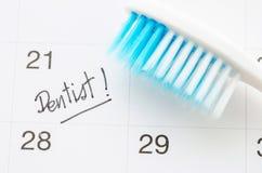 Rendez-vous de dentiste de rappel images stock