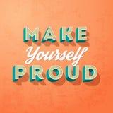 Rendez-vous fier, concept créatif de motivation de vecteur Images libres de droits