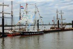 Rendez-Vous högväxt Themsen 2017 för den skeppregattaGreenwich floden Fotografering för Bildbyråer