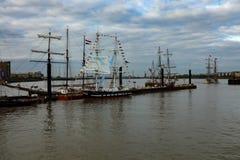 Rendez-Vous högväxt Themsen 2017 för den skeppregattaGreenwich floden Royaltyfria Foton
