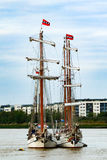 Rendez-Vous o rio 2017 alto de Greenwich da regata dos navios Tamisa Fotografia de Stock