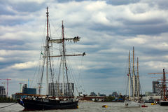 Rendez-Vous Tall Ships Regatta 2017 Greenwich river Thames royalty free stock images