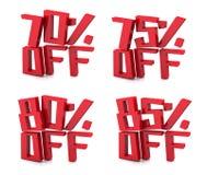 rendição 3D de 70-85 por cento ilustração royalty free