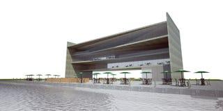 rendição 3D do edifício moderno Imagens de Stock Royalty Free