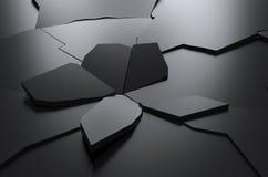 Rendição abstrata de fundo de superfície rachado Fotografia de Stock Royalty Free