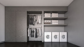A rendição armário/3D de madeira de pessoas sem marcação foto de stock