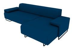 Rendição azul do sofá 3D Imagens de Stock Royalty Free