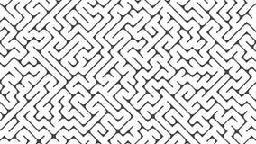 Rendição branca quadrada do conceito 3d do labirinto Imagem de Stock Royalty Free