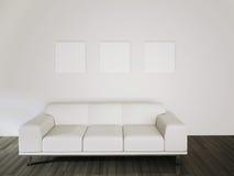 Rendição confortável moderna do interior 3d Fotografia de Stock