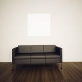 Rendição confortável moderna do interior 3d Fotos de Stock Royalty Free