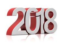 rendição 2018 3d Imagem de Stock Royalty Free
