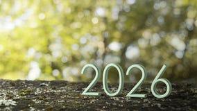 rendição 2026 3d imagem de stock royalty free