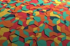 Rendição 3D abstrata da superfície colorida Foto de Stock Royalty Free