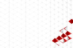 Rendição 3d abstrata da superfície do branco Foto de Stock