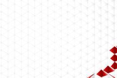 Rendição 3d abstrata da superfície do branco Imagem de Stock