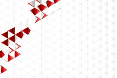 Rendição 3d abstrata da superfície do branco Foto de Stock Royalty Free