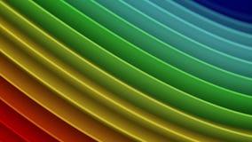 Rendição 3D abstrata das curvas onduladas do inclinação do arco-íris Imagem de Stock Royalty Free
