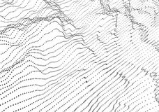 Rendição 3D abstrata das ondas com partículas Imagem de Stock