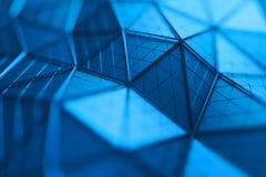 Rendição 3D abstrata do fundo poligonal Fotos de Stock Royalty Free