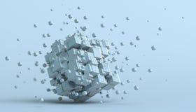 Rendição 3D abstrata dos cubos Imagens de Stock
