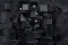 Rendição 3D abstrata dos cubos Imagem de Stock