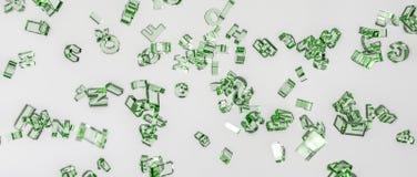 rendição 3d Alfabeto desintegrado no ar Foto de Stock
