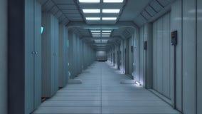rendição 3d Arquitetura futurista do fundo Foto de Stock Royalty Free