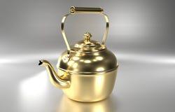 rendição 3d Bule dourado Fotos de Stock Royalty Free