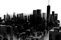 rendição 3d Cidade cinzenta Imagem de Stock