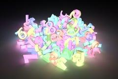 Rendição 3d colorida Número do caráter 123 para o projeto gráfico ilustração stock
