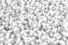 rendição 3D com cubos Fotografia de Stock