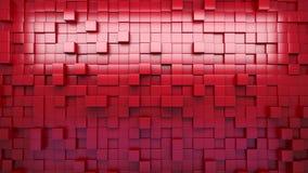 rendição 3d Cubos expulsos vermelhos abstraia o fundo laço ilustração royalty free