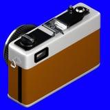 rendição 3d da câmera retro velha isométrica do vintage Fotos de Stock Royalty Free