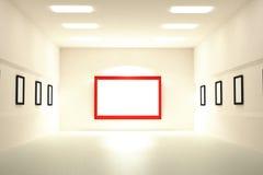 rendição 3D da placa de quadros vazios em um museu ilustração do vetor