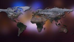 rendição 3d da terra do planeta Você pode ver continentes, cidades Elementos desta imagem fornecidos pela NASA Imagem de Stock