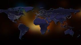 rendição 3d da terra do planeta Você pode ver continentes, cidades Elementos desta imagem fornecidos pela NASA Fotos de Stock Royalty Free