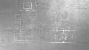 rendição 3D da textura baseada nas camadas de concreto e de pedra ilustração stock
