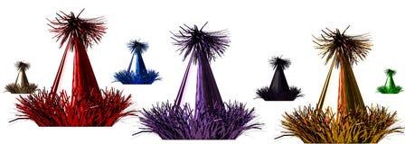 rendição 3d de chapéus de uma celebração da cor no branco Fotografia de Stock Royalty Free