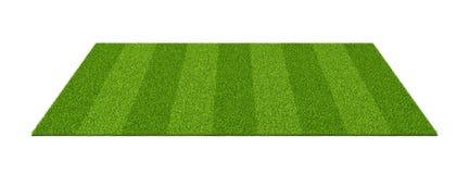 rendição 3d de um campo de esportes isolado com grama verde em um fundo branco imagem de stock royalty free